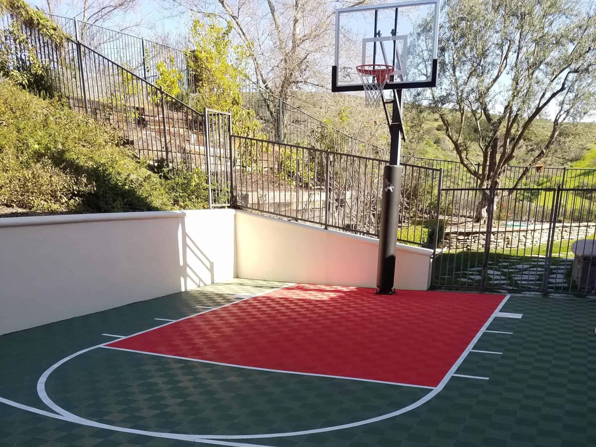 outdoor basketball court flooring customer reviews - coto de caza, CA
