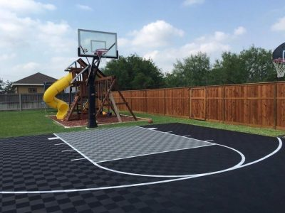 Backyard Basketball Court Flooring