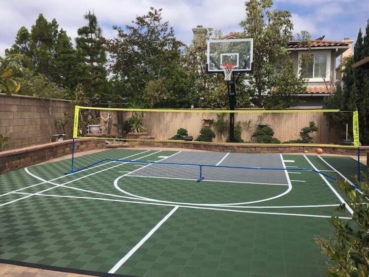 outdoor backyard basketball court flooring customer reviews - san diego, california