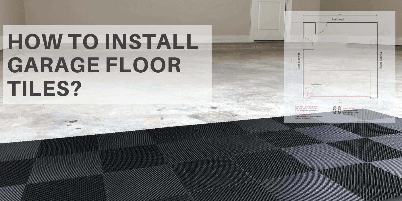 How to install garage floor tiles