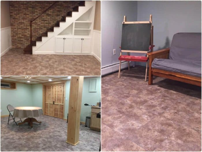 Basement Floor Tile Vinyl Top Easy Install ModuTile