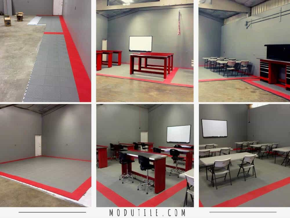 Basement Flooring Meeting Room Installation ModuTile