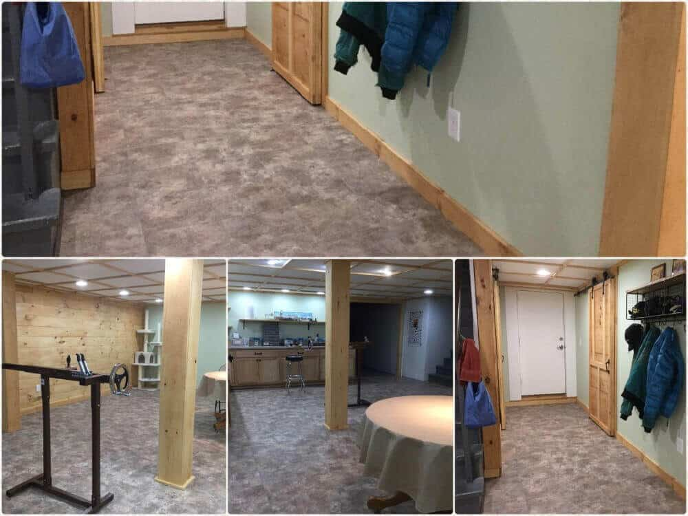 Basement Flooring Slate Basement Perfect Fit ModuTile