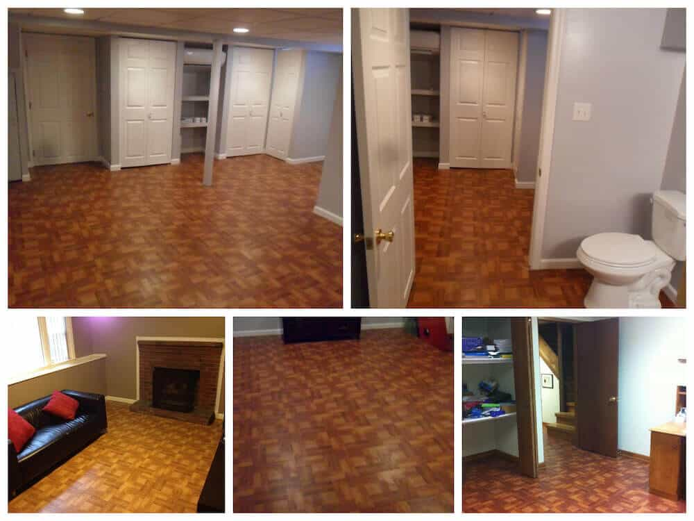 Basement Flooring Vinyl Wood Interlocking Tile ModuTile
