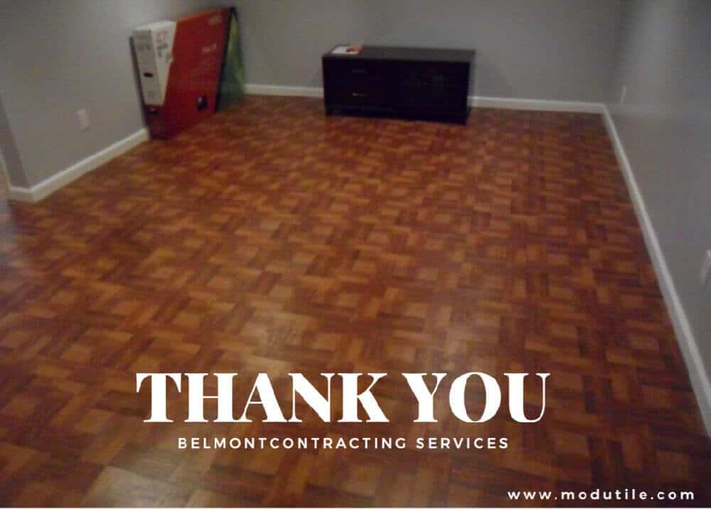 Basement Flooring Vinyl Wood Tile ModuTile