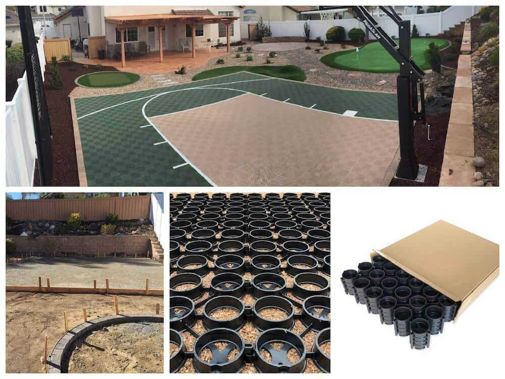 Basketball Court Gravel Paver Base
