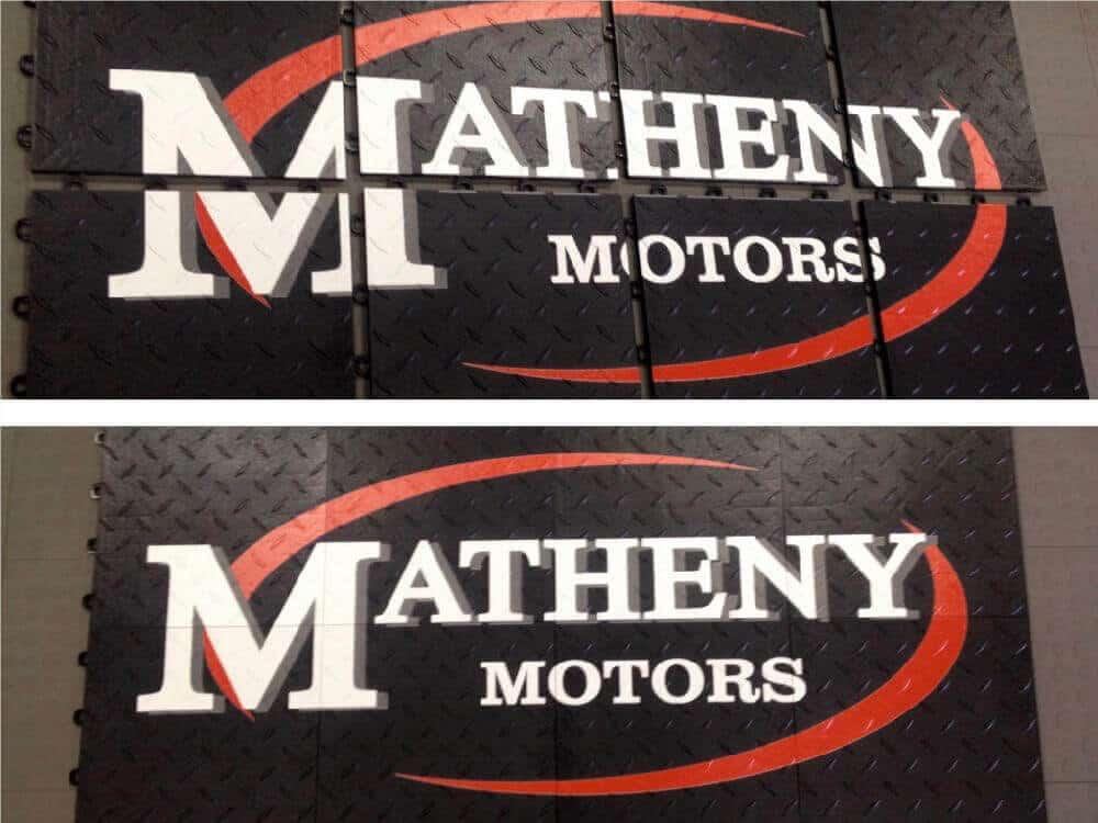 Car Showroom Display Floor Graphics - MATHENY