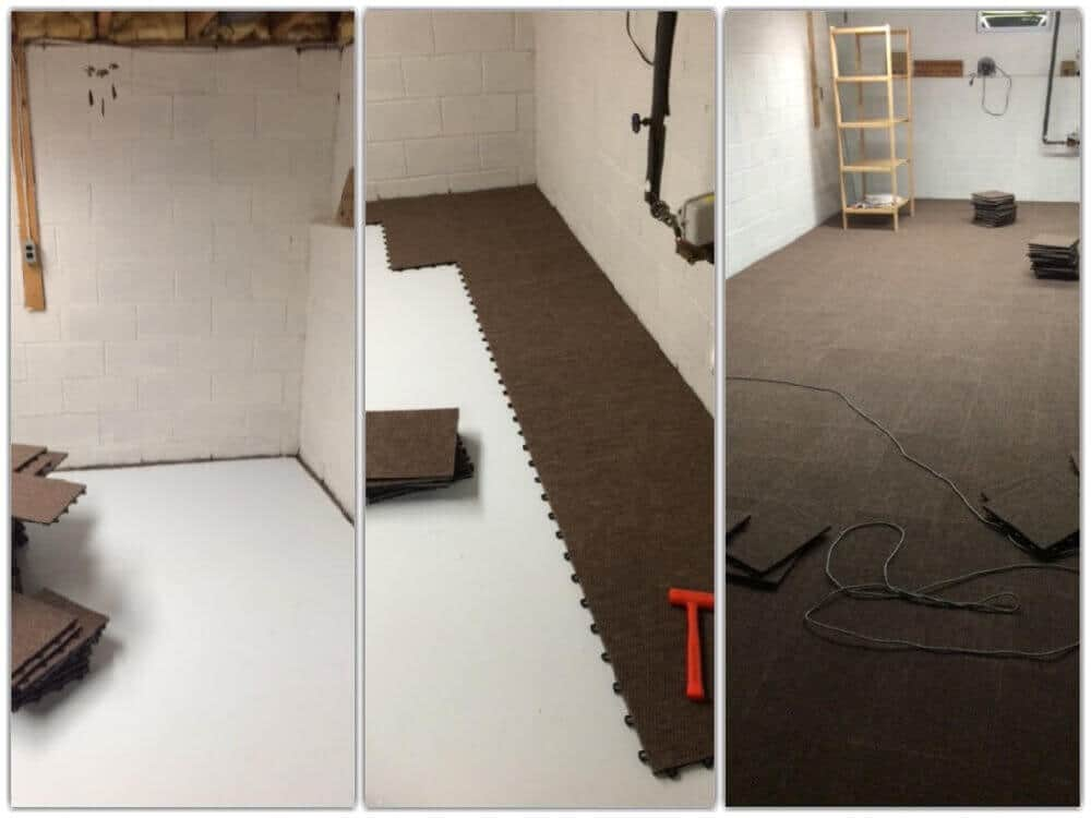 Do-it-yourself Basement Tile Tampico Brown ModuTile