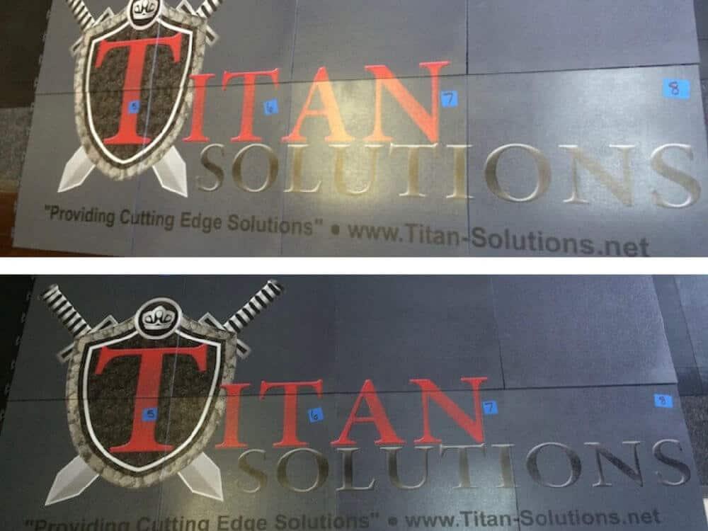 Flexible PVC Trade Show Floor Graphics - TITAN