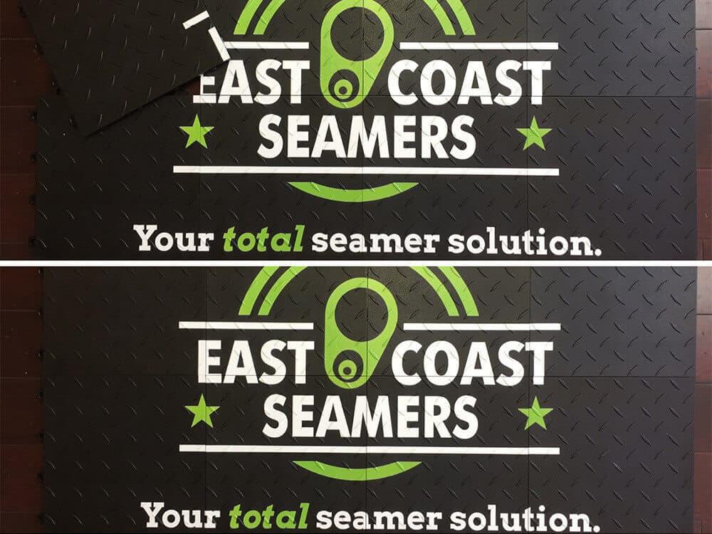 Floor Graphic Pictures - Interlocking Tiles Easte Coast Seamers