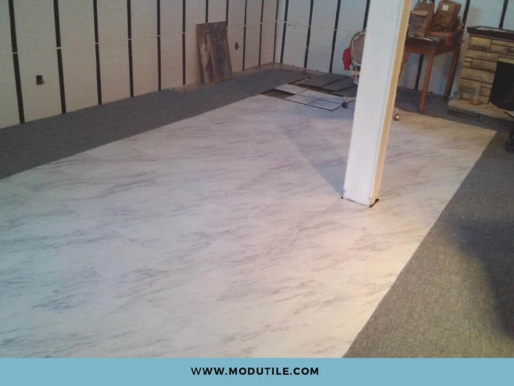 Interlocking Basement Marble Floor Tile ModuTile