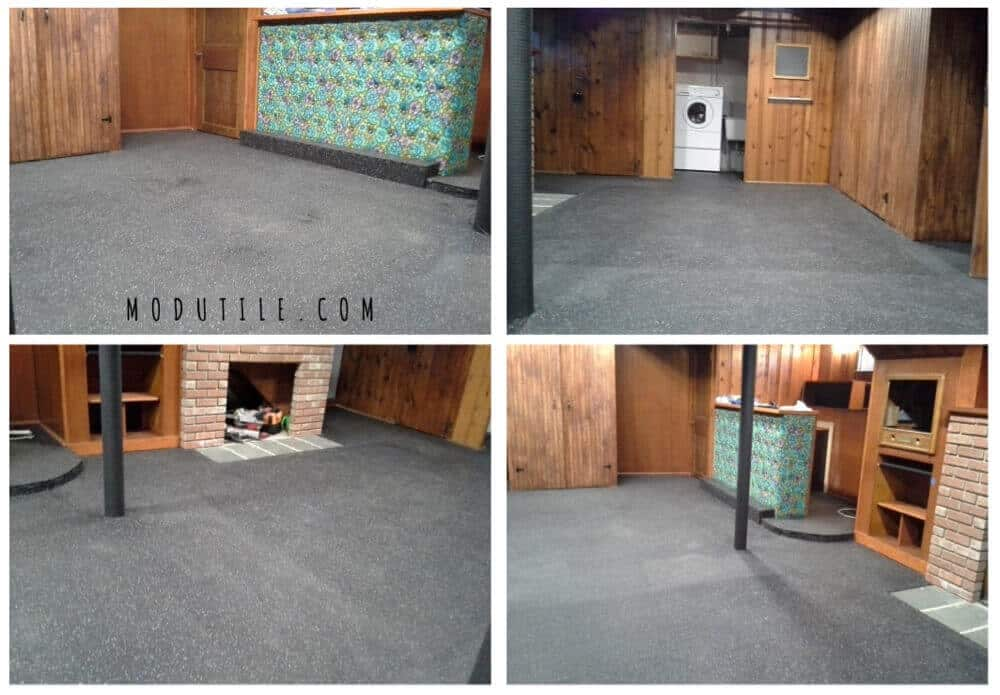 Interlocking Basement Rubber Floor Tile ModuTile