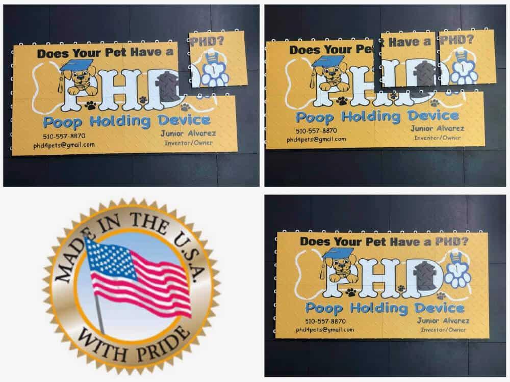 Interlocking Event Floor Display Graphics - PHD Poop Holding Device
