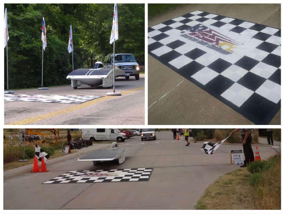 ModuTile Interlocking Event Flooring - Solar Car Competition