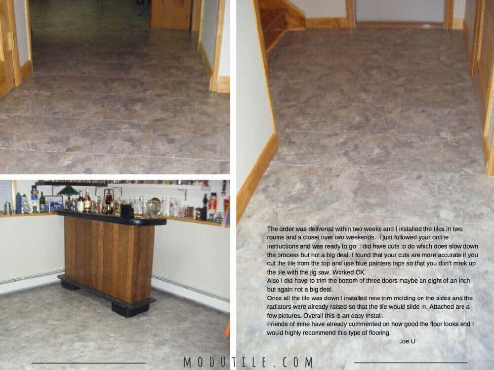 Interlocking Floor Tiles Canyon Basement ModuTile