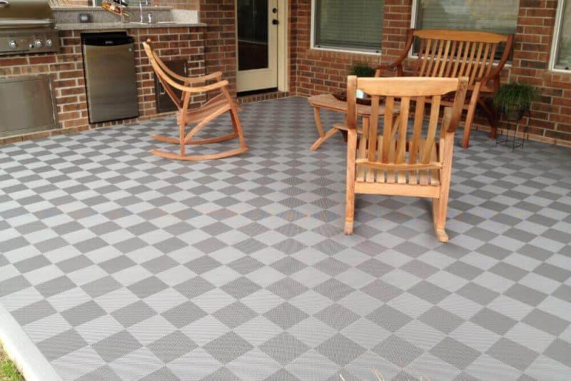 Interlocking Patio Floor Tiles Before After