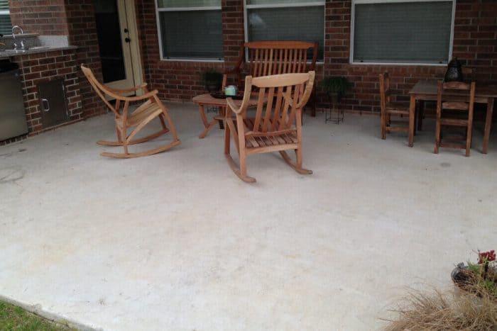 Interlocking Patio Floor Tiles - before
