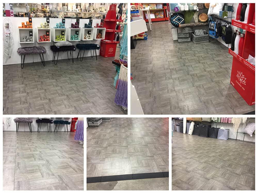 interlocking trade show floor tile gray wood ModuTile