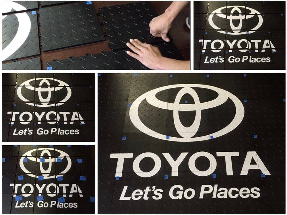 ModuTile Interlocking Trade Show Flooring Graphics - Toyota