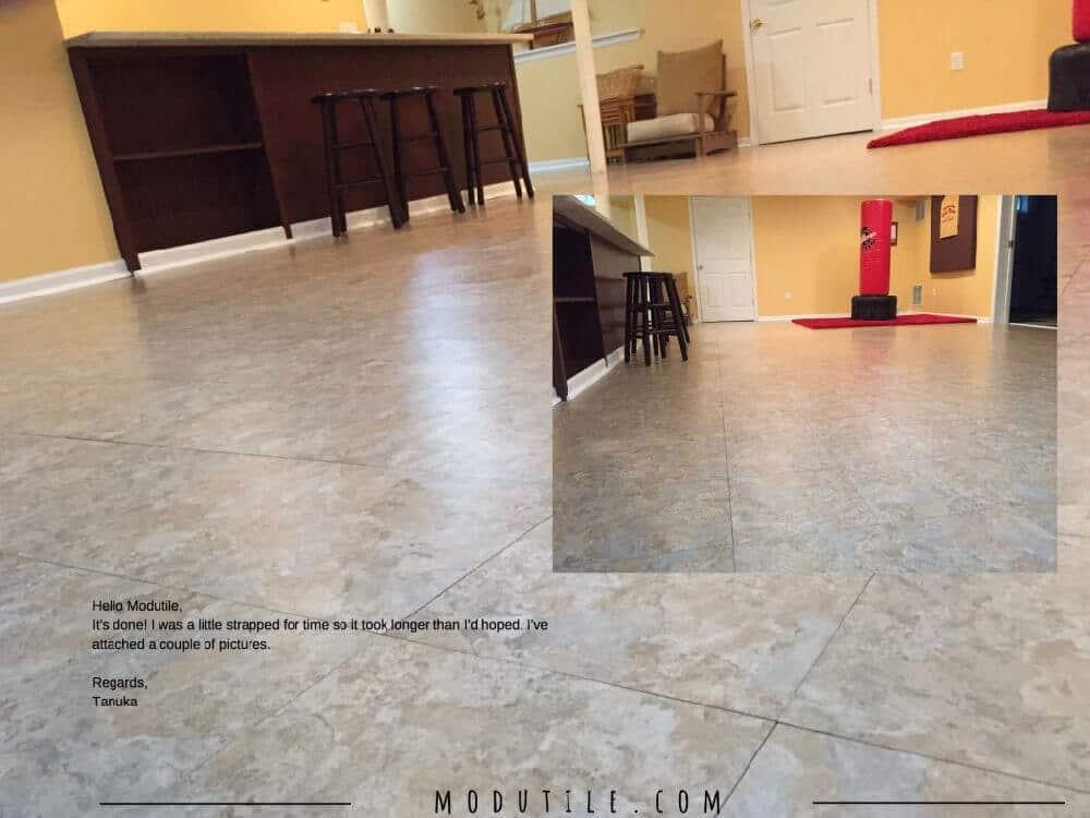Modular Basement Floor Tile Slate ModuTile