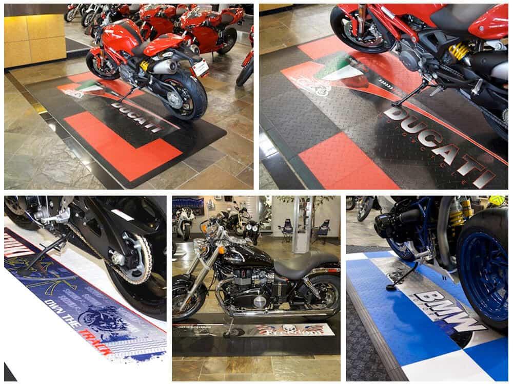 Motorcycle Show Floor Tile Diamond top Graphics Display - ModuTile