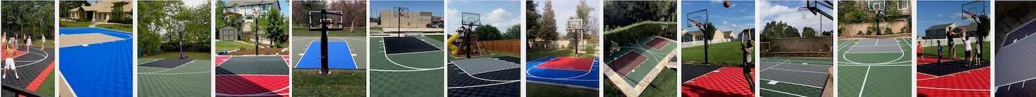 Outdoor Basketball Court Floor Sport Tiles