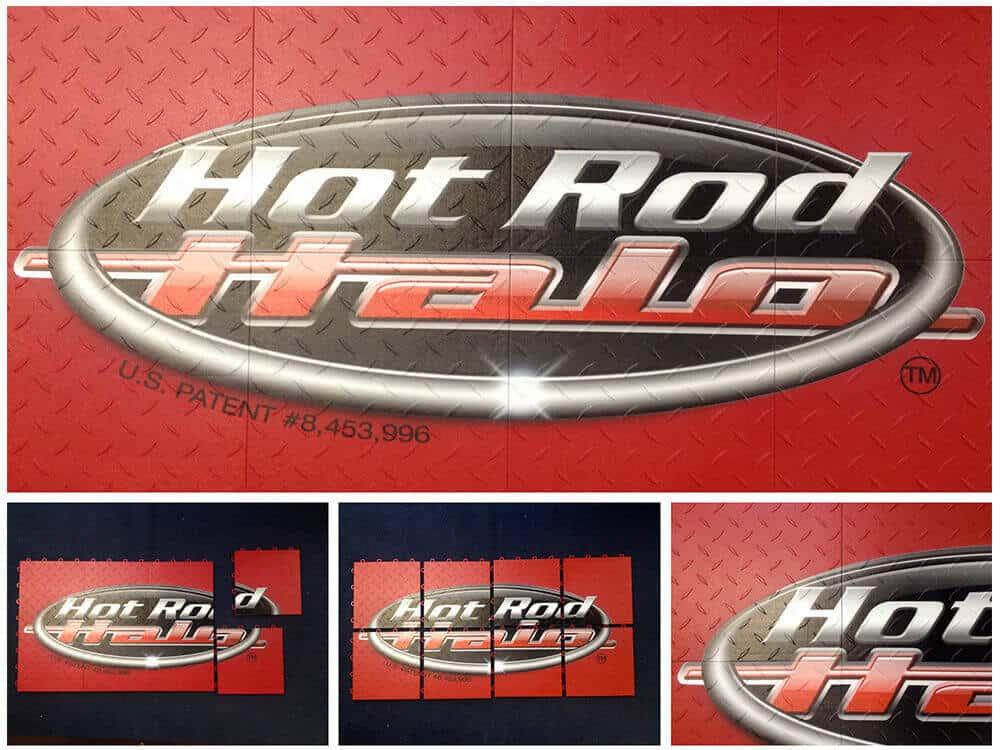 Trade Show Floor Graphics - Hot Rod Display