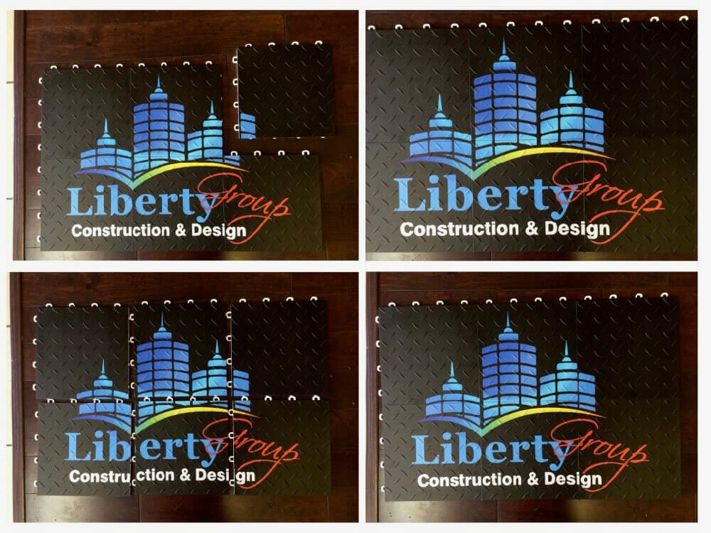 Trade Show Floor Graphics - Liberty Group Construction