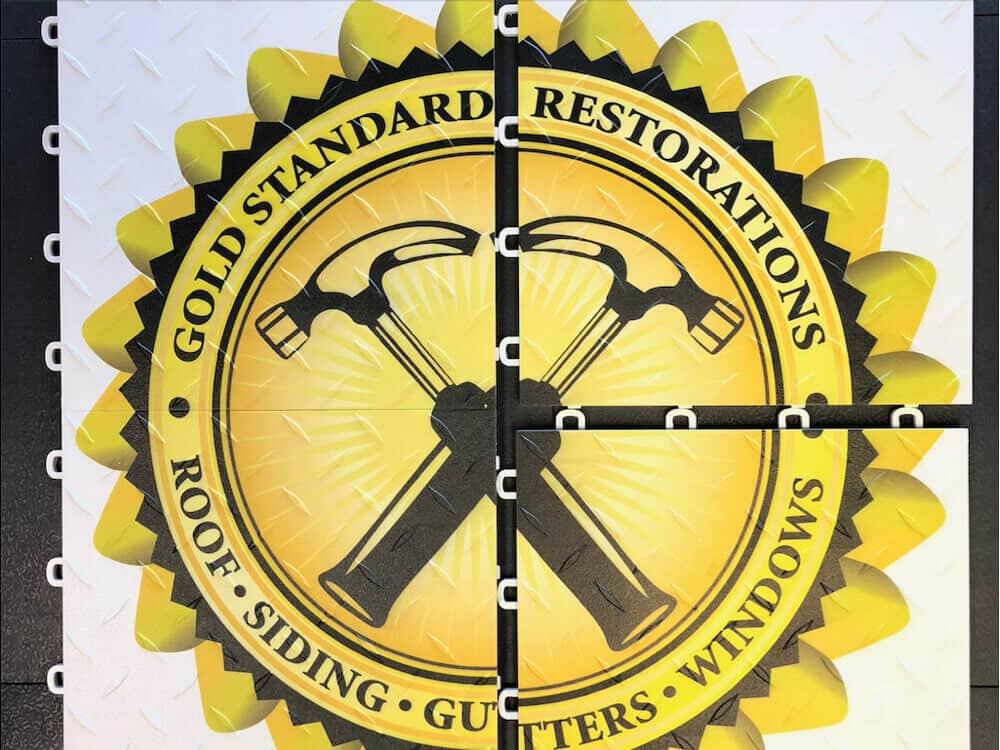 Trade Show Flooring - Graphics Logo - Diamond Top Tile