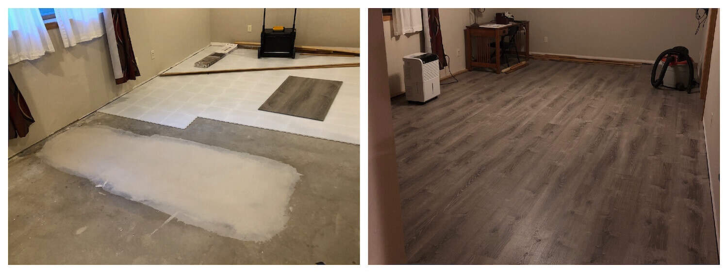 Basement Subfloor Interlocking Floor Tiles