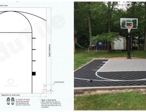 How to Install Backyard Basketball Court Tiles