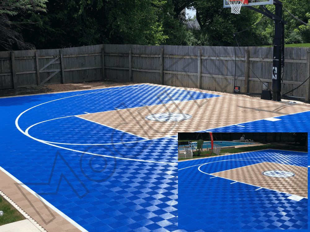 Backyard Outdoor Basketball Flooring.