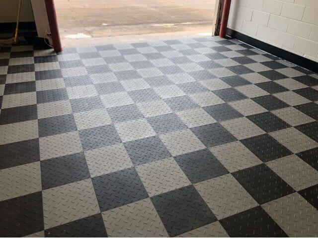 modutile garage floor tiles diamond