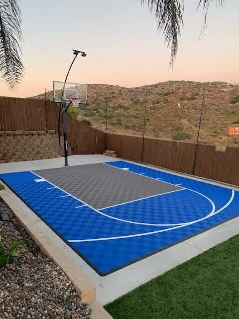 ModuTile 20x24 Backyard Basketball Court Floor Tiles