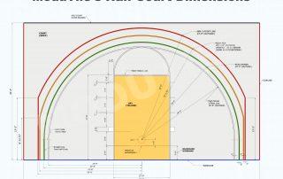 ModuTile Basketball Half Court Dimensions