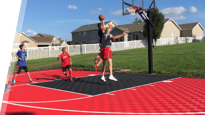 Backyard Basketball Court Flooring Outdoor Sport Tiles